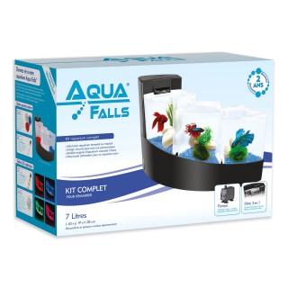 Aquarium Aqua Falls® - Kit complet - Noir