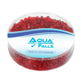 Graviers translucides coloris rouge 350 gr - Aqua Falls®